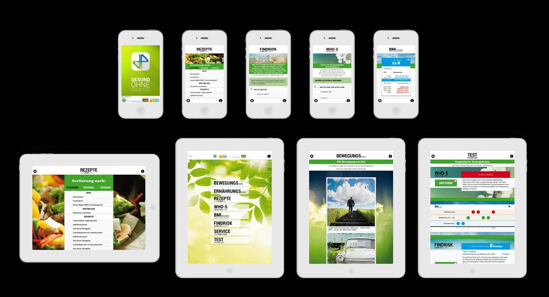 Diabetes-App – Komplettproduktion